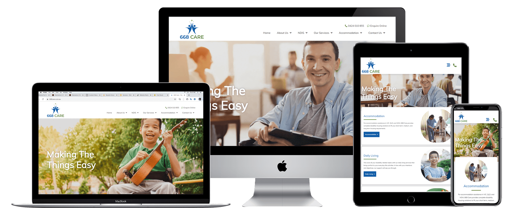 668 Care Portfolio (Website ReDesign)